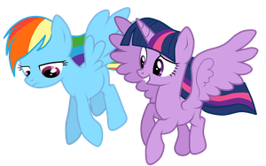 Rainbow Dash and Twilight Sparkle Vector by Ritya9898