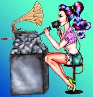 Pin Up Drawing by Antonia-Asylum-Queen