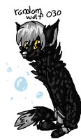 wolf doodle from iscribble (coloured version) by caramellique