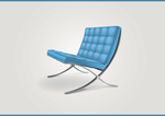 Blue chair - icon by Mindjek