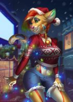 Christmas kitty by kyander