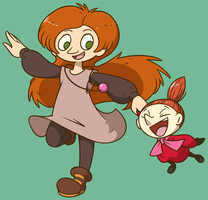Alicia and Little My by Shenaniganza