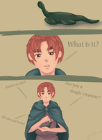 Hetalia | Scotland and Nessie ~ by Lazorite