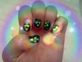 Triforce Zelda nails! by abstractartchick