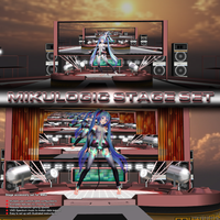 MMD Mikulogic Stage Set by Trackdancer