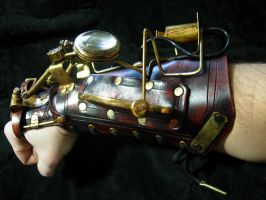 Watchman steampunk cuff2 by Skinz-N-Hydez