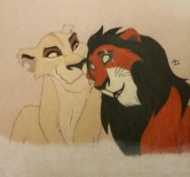 Scar and Zira  by WolfWhisperer19