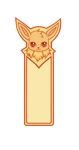 Eevee Bookmark by StormyMcThunderson