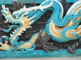Turquoise Dragon Head by LithiumStock