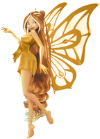 Winx Flora Gold enchantix 3d! by AlexaSpears1333