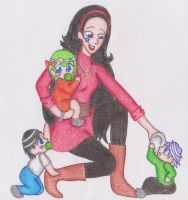 Sam and babies by kast43