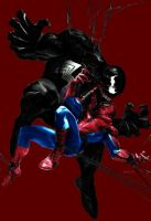 Spiderman vs Venom by Rene-L