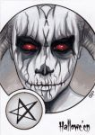 Hallowe'en Sketch Card - Sean Pence 2 by Pernastudios