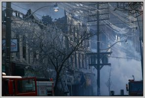 Fire on Queen St West by DouglasHumphries