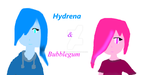 Hydrena and Bubblegum by ilovedragons1234
