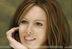Kate Beckinsale Digital by TinasArtwork