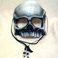 Skull half-mask by RiverGypsyArts