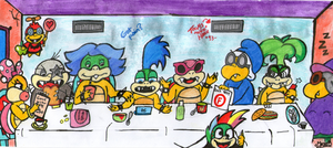 The Koopas' Last Supper by EdieMammon