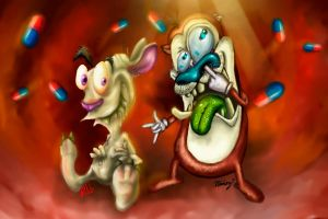 Ren and Stimpy by gerky-art