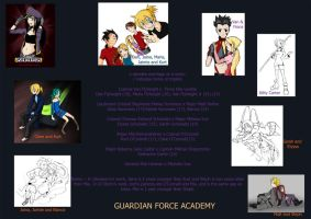 Cast - Guardian Force Academy by darkened-storm
