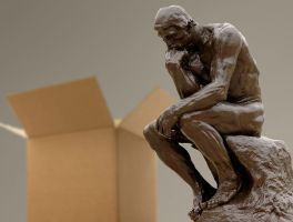 The Thinker Outside the Box by johnstiles