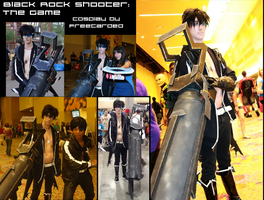 Male! Black Rock Shooter: The Game cosplay by freetarded