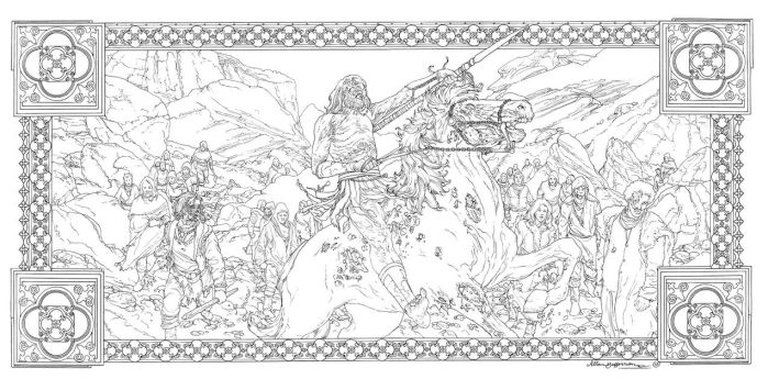 Game Of Thrones_ Coloring Book_ 16 by AllJeff