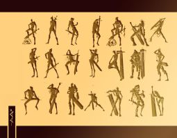 20 silhouettes by andava