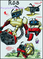 R.O.B doodles by PurpleRAGE9205