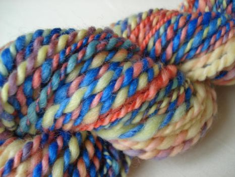 Flowers in the sky handspun by Snowberrylime