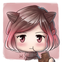 Commission for chachamaruuu - Brown Cat (shaded) by Kelsa20