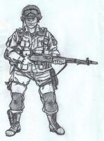 101st Airborne BAR gunner sketch by warman707