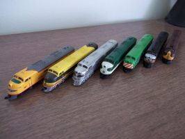 N Scale E-Unit collection by Starfox2o12