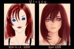 Kairi - Then and Now by Vlossy