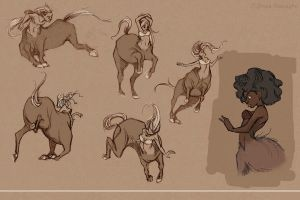 Centaur Sketches2 by jbsdesigns
