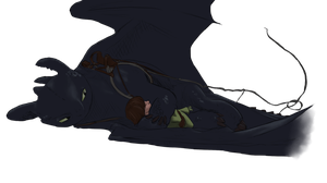 Hiccup and Toothless by Ackerley