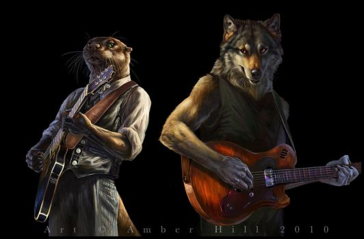 Muddy Waters and Howlin Wolf by vantid