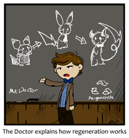 The Doctor explains stuff by caycowa