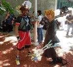 Sora and Roxas by R-Legend