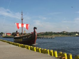Viking boat close-up by Stona2