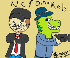 Nc and Dino Rob by GothicTaco198
