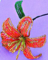 Beaded Tiger Lily by Craftcove