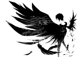 Fallen angel - Izaya Orihara by whenstopsignsfly