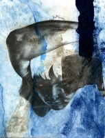 Hear No Evil Monoprint by Elsma