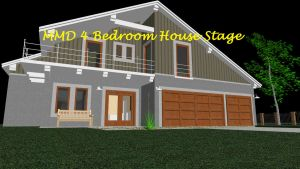 MMD 4 Bedroom House Stage ~converted in sketchup~ by swiftcat-mooshi