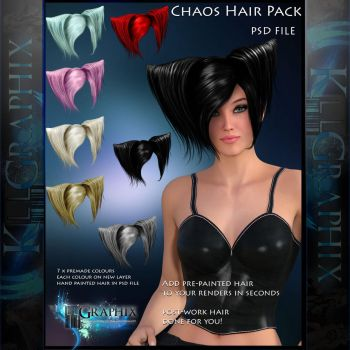 Chaos Painted Instant add on Hair STOCK PSD by MakeMeMagical