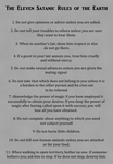 The Eleven Satanic Rules of the Earth by Satan-Philosophy