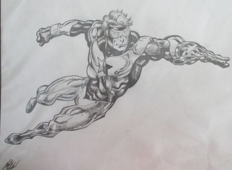 Booster Gold by Chad Wiebe by Palchinski