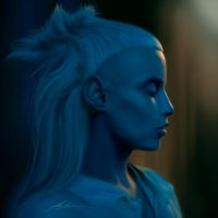 Yolandi in Blue by AlexRuizArt