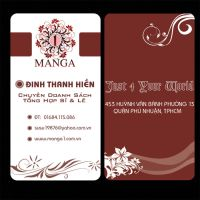 Name Card of Manga1 Shop by juztin-le